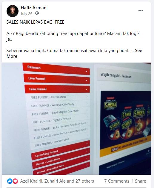 guna facebook profile buat affiliate marketing